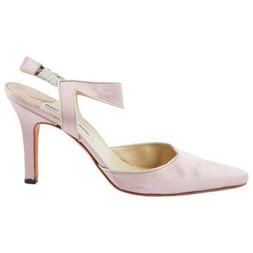 Manolo Blahnik Pink Cloth Heels