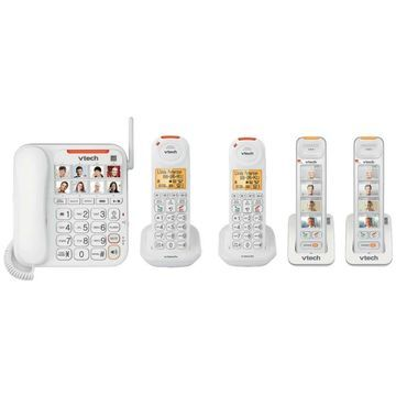 Vtech SN5147 plus 2-SN5307 plus 1-SN5107 Amplified Corded-Cordless Phones