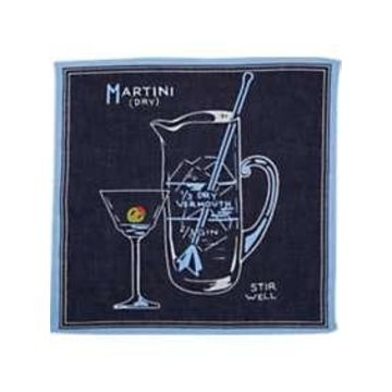 Egara Blue Martini Pocket Square