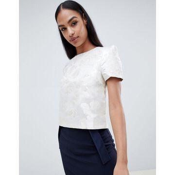 Vesper floral short sleeve top