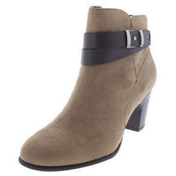 Giani Bernini Womens Calae Faux Leather Block Heel Booties