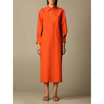 Max Mara long shirt dress in cotton
