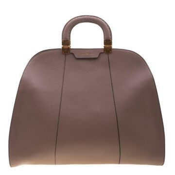 Emporio Armani Taupe Leather Tote
