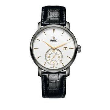 Rado DiaMaster Stainless Steel Chronometer Leather Watch