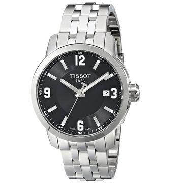 Tissot Men's T0554101105700 PRC 200 Round Silvertone Bracelet Watch