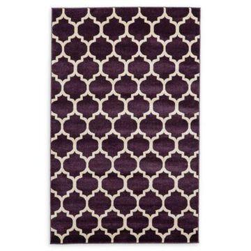 Unique Loom Philadelphia Trellis 5' x 8' Area Rug in Purple