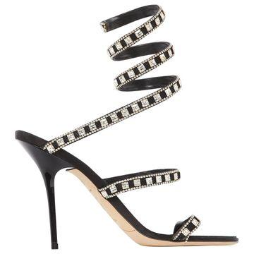 Rene Caovilla Black Suede Sandals