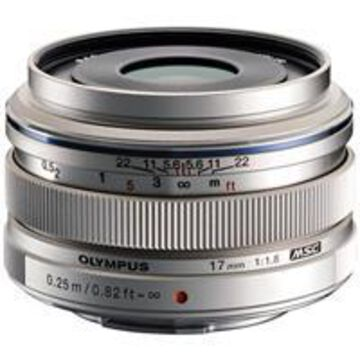 Olympus M. Zuiko Digital 17mm f/1.8 Lens - Silver - for Micro Four Thirds System
