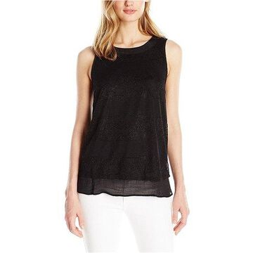 Kensie Womens Sleeveless Knit Blouse