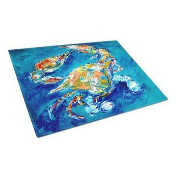 Caroline's Treasures By Chance Crab Glass Cutting Board Large