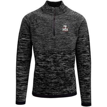Men's Levelwear Charcoal 2020 PGA Championship Pioneer Quarter-Zip Pullover Jacket