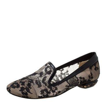 Nicholas Kirkwood Black Lace Casati Ballet Flats Size 36