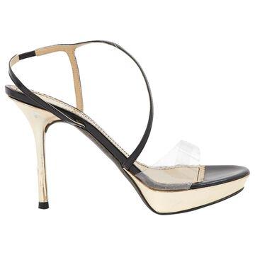John Galliano \N Gold Leather Sandals