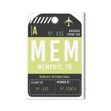 "Oliver Gal Memphis Luggage Tag Canvas Art - 45"" x 30"" x 1.5"""