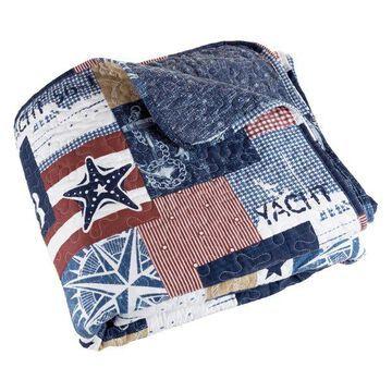 Lavish Home Americana Quilt Set, Full/Queen