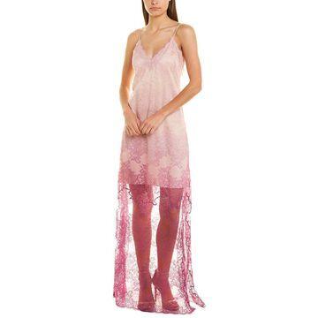 Jonathan Simkhai Ombre Lace Slit Gown
