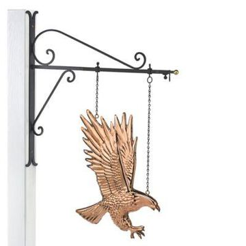 Good Directions Eagle Hanging Wall Sculpture in Pure Copper