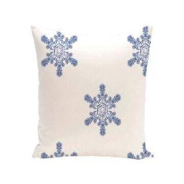 16 Inch White Decorative Christmas Throw Pillow