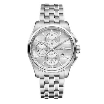 Hamilton Men's 'Jazzmaster' Automatic Chronograph Stainless Steel Watch