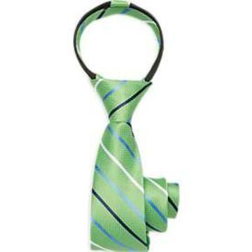 Joseph & Feiss Boys Green Zipper Tie