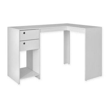 Manhattan Comfort Palermo Classic L-Desk in White