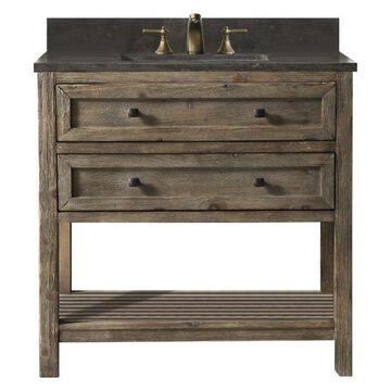 Legion Furniture Legion Furniture Single Sink Vanity, Rustic Brown, 36