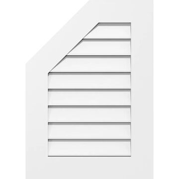 Ekena Millwork 30-in W x 36-in H Octagonal Surface Mount PVC Gable Vent: Functional, w/3-1/2-in W x 1-in P Standard Frame in Off-White
