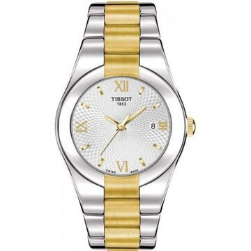 Tissot Women's 'T-Trend Glam' Two-Tone Stainless Steel Watch