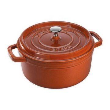 Staub 4 qt. Round Cocotte in Burnt Orange