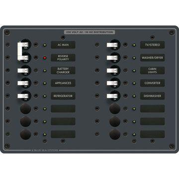 Blue Sea Systems AC Main +14 Positions Panel (European)