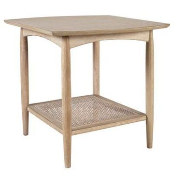 INK+IVY Kelly End Table in Light Brown