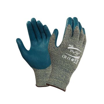 Ansell 11-501-8 HyFlex Nitrile Foam Coated Gloves, Size 8, Blue, 12 Pairs