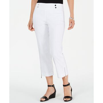 Petite Cropped Zipper-Trim Pants, Created for Macy's