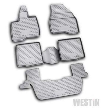 Westin Profile Floor Liners & Mats, Front, 2nd, and 3rd Row Floor Liners in Black