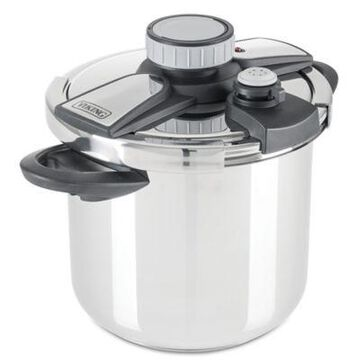 Viking Easy Lock 8 qt. Stainless Steel Pressure Cooker with Steamer