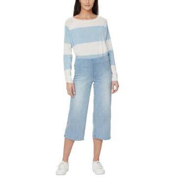 Nydj Wide-Leg Capri Pull-On Jeans