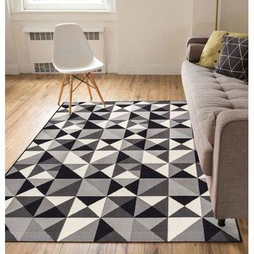 Well Woven Kings Court Vector Geometric Grey Area Rug