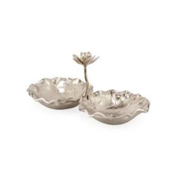 Lotus and Lily Double Snack Dish