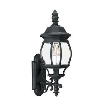 Sea Gull Lighting Wynfield 23.5-in H Black Candelabra Base (E-12) Outdoor Wall Light | 88201-12