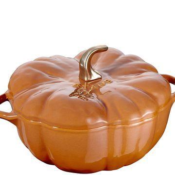 Staub Cast-Iron 5-qt Pumpkin Cocotte