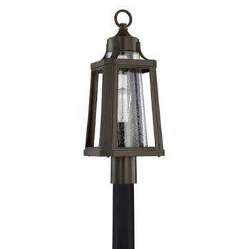 Quoizel Lighthouse 1-Light Post Mount Outdoor Lantern in Palladian Bronze