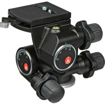 Manfrotto410 3-Way, Geared Pan-and-Tilt Head with 410PL Quick Release Plate