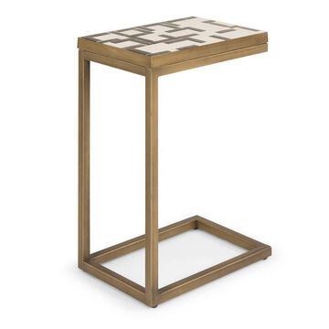 Geometric II Pull Up Table Brushed Brass - Home Styles