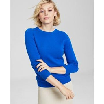 Charter Club Crew-Neck Cashmere Sweater, In Regular and Petites, Created for Macy's