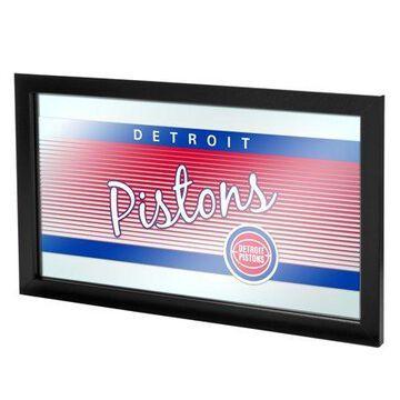Trademark Gameroom Detroit Pistons Hardwood Classics NBA Framed Logo Mirror