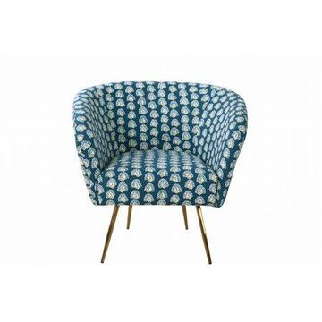 HomePop Ashby Accent Chair - Teal Floral