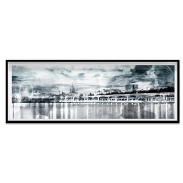 Oliver Gal 'Look At The City' Framed Art - Blue