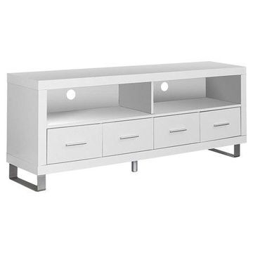 Monarch Hollow-Core TV Console in Cappuccino with Drawers