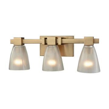 Westmore Lighting Cabot 3-Light Brass Transitional Vanity Light Bar