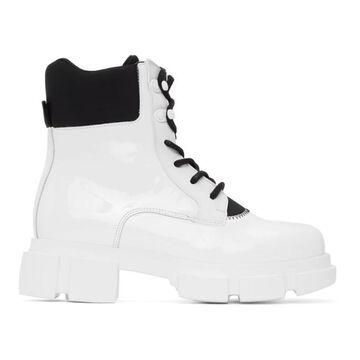 Joshua Sanders White Patent Velar Boots